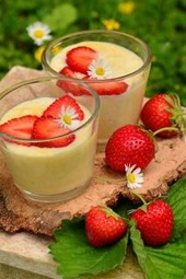 Strawberries and Custard, for the Love of Food