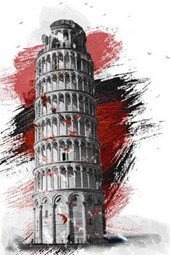 A Painting of the Leaning Tower of Pisa