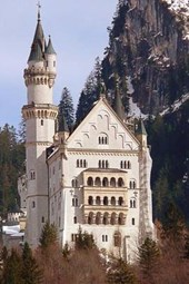 The Beautiful Neuschwanstein Castle in Bavaria, Germany
