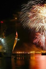Website Password Organizer Fireworks at Pearl Harbor in Hawaii | Unique Journal |