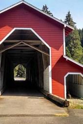 Website Password Organizer Red Covered Bridge in Oregon