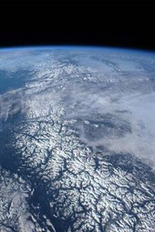 Coast Mountain Range of Canada and Alaska from Space