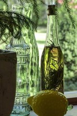 Vintage Bottles in the Windowsill | Unique Journal |