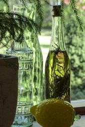 Vintage Bottles in the Windowsill