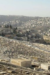 Aerial View of the Holy City of Jerusalem, Israel