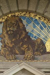 Mosaic of a Lion Above a Door | Unique Journal |