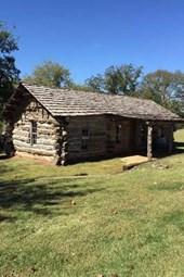 Log Cabin in Pawnee Oklahoma Journal