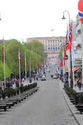 A View of the Royal Palace in Oslo, Norway