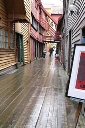 A Wood Street in Bergen, Norway