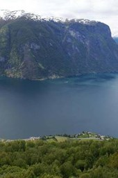 An Aerial View of the Sogne Fjord in Norway