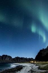 Aurora Borealis Northern Lights in Lofoten, Norway