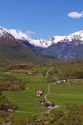 Mountains and Valley in Norway