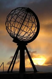 North Cape Globe Monument in Norway