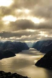 The Beautiful Fjord Lysefjord in Norway