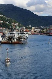 The Beautiful Port of Bergen in Norway