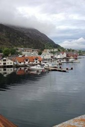 The Harbor on the Fjord in Kalvag, Norway
