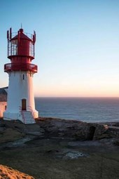 The Lindesnes Lighthouse in Norway
