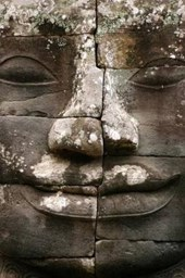 Angkor Stone Face in Cambodia Journal