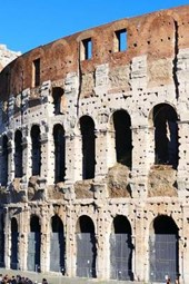 Exterior View of the Ancient Roman Colosseum in Rome