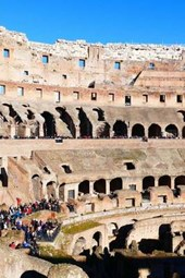 Interior View of the Ancient Roman Colosseum in Rome