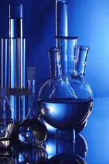 Cool Blue Beakers and Bottles in a Chemistry Lab | Unique Journal |