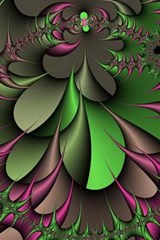 A Cool Green and Pink Fractal | Unique Journal |