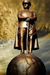 A Statue of Ataturk in Istanbul, Turkey