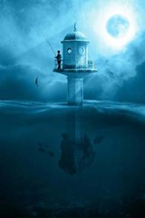 Fishing in the Moonlight from a Lighthouse | Unique Journal |