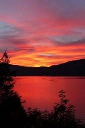Sunset at Canim Lake in British Columbia, Canada
