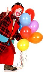 A Clown at the Carnival with Balloons | Unique Journal |
