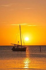 Yacht Sailing at Sunset Journal | Cool Image |