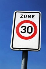 Zone 30 Sign Journal | Cool Image |