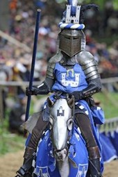 Blue Knight at the Tournament