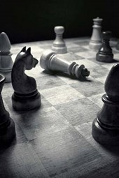Checkmate on the Chess Board in Black and White