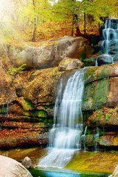 A Beautiful Waterfall in the Woods of Virginia
