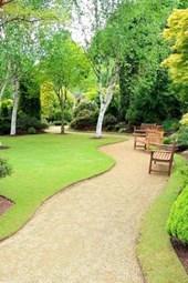 A Beautiful Public Park Garden in a Scotland Spring