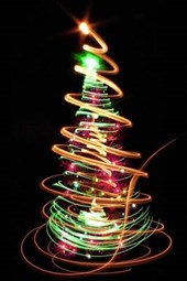 A Christmas Tree Made of Neon Light