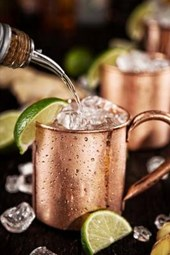 Cold Moscow Mules - Ginger Beer, Lime, and Vodka Journal