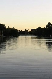 A Beautiful View of a Winding South Texas Resaca at Dusk