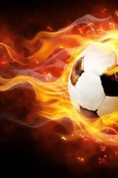 A Football on Fire, for the Love of Soccer