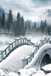 A Gothic Bridge Painting in the Winter Countryside