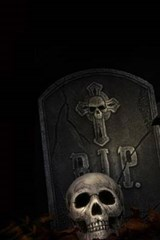 A Gravestone and Skull at the Cemetery | Unique Journal |