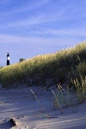 A Lighthouse on the Beach at Cape Cod