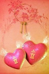 A Pair of Keys for a Pair of Pink Heart