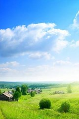 A Perfect Summer Day with Blue Skies and Green Grass in Russia | Unique Journal |