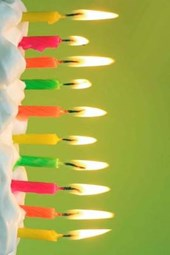 Ten Colorful Candles on the Cake