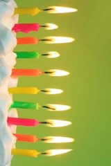Ten Colorful Candles on the Cake | Unique Journal |