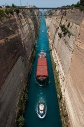 Boats in Corinth Channel Greece Journal