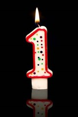 First Birthday Candle Journal (or You're #1) | Cool Image |