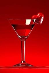 A Martini with a Heart Garnish